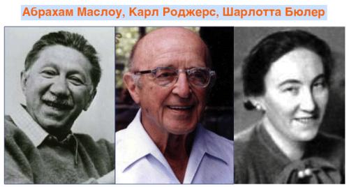Маслоу, Роджерс и Шарлотта Бюлер
