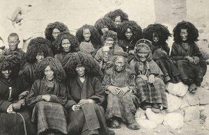 Тибетская семья. 1904 год.